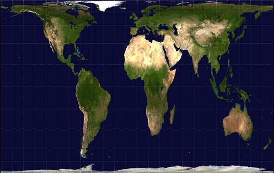 Gall-Peters Projection Small