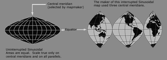 Sinusoidal Real Area Projection
