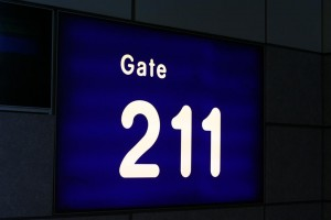 Gate at Manchester Airport