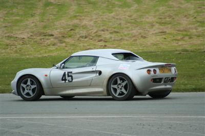 Dave Coveney's Lotus Elise at an Anglesey Sprint in 2006